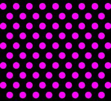 Polkadots Black and Pink by Medusa81