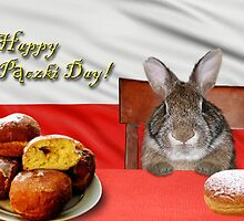 Paczki Day Bunny Rabbit by jkartlife