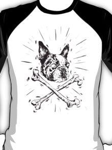 Pirate Boston Terrier Flag T-Shirt