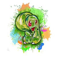 Cute Chikorita Spraypaint Tshirts + More! by Jonny2may