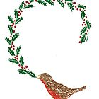 Christmas Bird Card by SusanSanford
