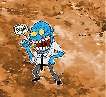 Frisky Blue Zombie by wolfehanson