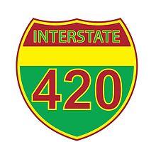 Interstate 420 Rasta Rastafarian by LGdesigns