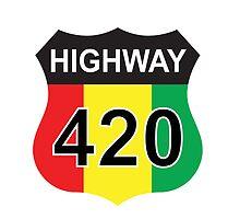Highway 420 Rasta Rastafarian by LGdesigns