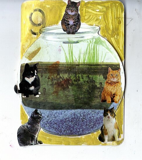 Thank Gawd Cats Can't Swim by RobynLee