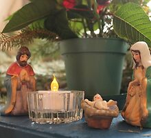 Window Nativity 2 by Kathy Rogers-Hartley