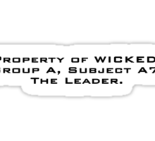 Property of WICKED - Minho Sticker