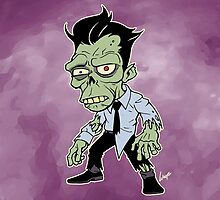 Disappointed Zombie version 2 by wolfehanson