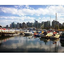 Vancouver Skyline from Stanley Park Photographic Print