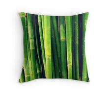 Big Bold Bellowing Bamboo Throw Pillow