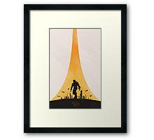Earth City Framed Print