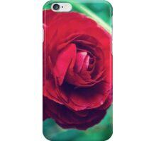 Red, Red Ranunculus iPhone Case/Skin