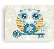 Winter Wonderland Owl Canvas Print