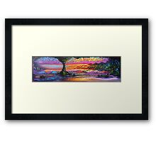 Lava Tube Fantasy- Warm and Cool Framed Print