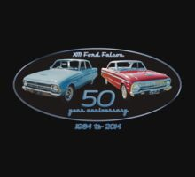 XM Falcon 50 year anniversary (black background) Kids Clothes
