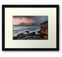 Elgol. Stormy Sunset. Isle of Skye. Scotland. Framed Print