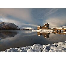 Eilean Donan Castle in Winter, Loch Duich, Scotland. Photographic Print