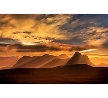 Sunrise over Stac Pollaidh, Inverpolly, North West Scotland. Photographic Print