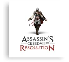 ASSASSIN'S CREED VIII BIT : RESOLUTION Canvas Print