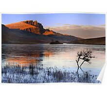 Old Man of Storr in Winter. Trotternish. Isle of Skye. Scotland. Poster