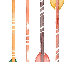 Watercolor Arrows by junkydotcom