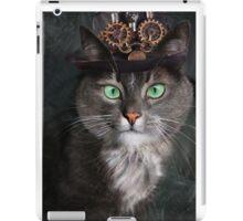 Steampunk Funny Cute Cat 3 iPad Case/Skin