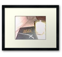 Bible Cross Candle Framed Print