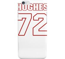 NFL Player Kevin Hughes seventytwo 72 iPhone Case/Skin