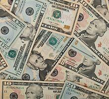 Dollar bills by franceslewis