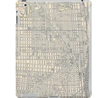 Vintage Map of Detroit iPad Case/Skin