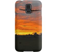 Bomber county: Lincolnshire sunset 1943 Samsung Galaxy Case/Skin