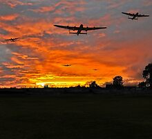 Bomber county: Lincolnshire sunset 1943 by Gary Eason + Flight Artworks