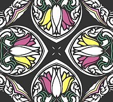 Tulips Kaleidoscope Print by red addiction