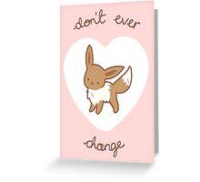 Eevee Valentine V2 Greeting Card