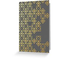 Geometric Gold Greeting Card