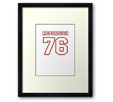 NFL Player Jake McDonough seventysix 76 Framed Print