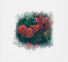Fading Flowers / Watercolor by Jane Terekhov
