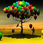 Árvore de Balões II. by Marcel Caram