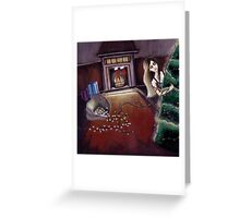 BLACK XMAS: Brighten up the Christmas lights Greeting Card