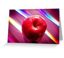 Futuristic red apple Greeting Card