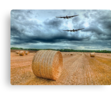A Stormy September Evening HDR - The 2 Lancasters  Canvas Print