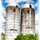 Vermont Silos by Edward Fielding