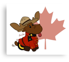Mountie Moose Canvas Print