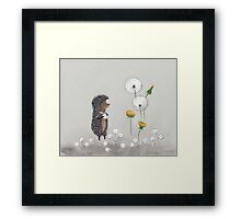 Nursery art - Hedgehog in the Fog Framed Print