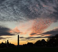 Mother Nature Painted the Sky Over Washington, DC Spectacular by Georgia Mizuleva