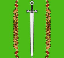 Irish Sword and Knotwork by Richard Fay