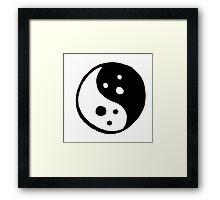 Yin Yang Ghosts Framed Print