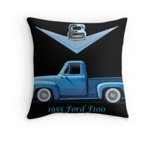 1955 Ford F100 V8 Pickup in Profile Throw Pillow