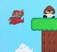 Super Mario Bros. NES (Paint 'n' Beads) by christiantyner