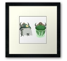 Glitch Hats Lem mask Framed Print